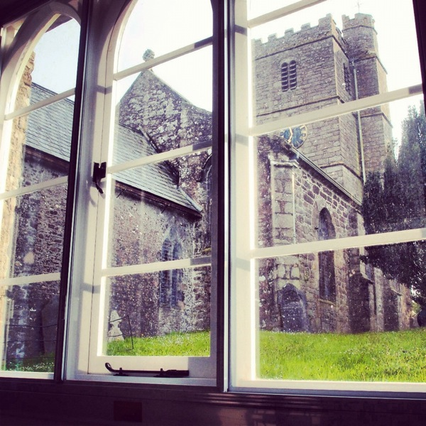 St Mary's Church from inside The School Room